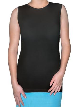 c19634efabe Kosher Casual Kids Big Girls  Modest Sleeveless Shell Tank Small Black
