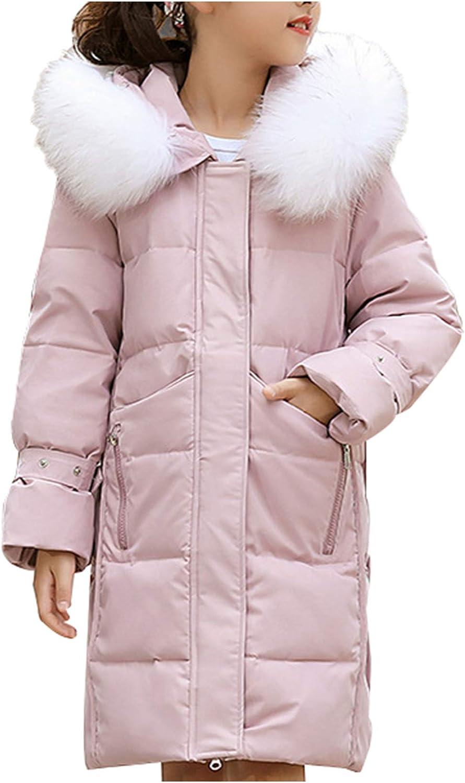 New Womens Faux Fur Hooded Duck Down Jackets Winter Warm Coats Mid Long Parkas