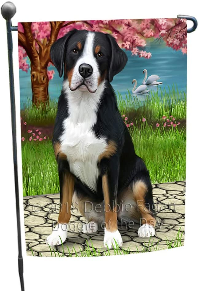 Doggie of the Day Greater Swiss Mountain Dog Garden Flag GFLG52812