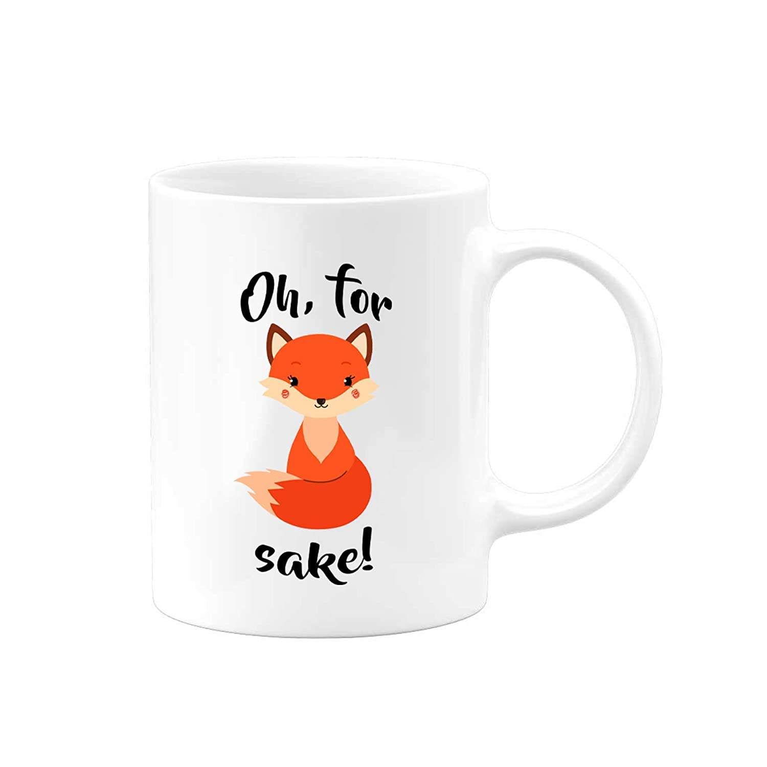 Humorous Saying Funny Pun Fox Mug Saying Coffee Cup 11 15 ounce ceramic Gift for Valentines Day to Make Them Laugh