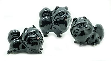 Amazoncom Animal Miniature Handmade Porcelain Statue Pomeranian