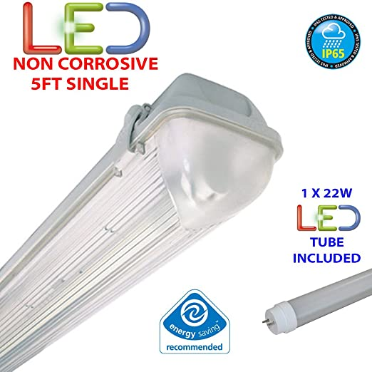5ft single led 22w non corrosive weatherproof fluorescent light 5ft single led 22w non corrosive weatherproof fluorescent light fitting ip65 energy efficient mozeypictures Gallery
