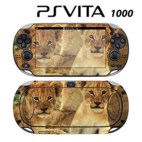 Decorative Video Game Skin Decal Cover Sticker for Sony PlayStation PS Vita (PCH-1000) - Cute Baby Lion Cubs -  Decals Plus, PV1-AN19