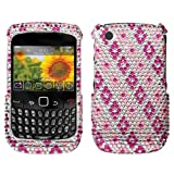Hot Pink Rhombic Plaid Diamonds Protector Case for BlackBerry Curve 8520 / 8530 (AT&T/T-Mobile)