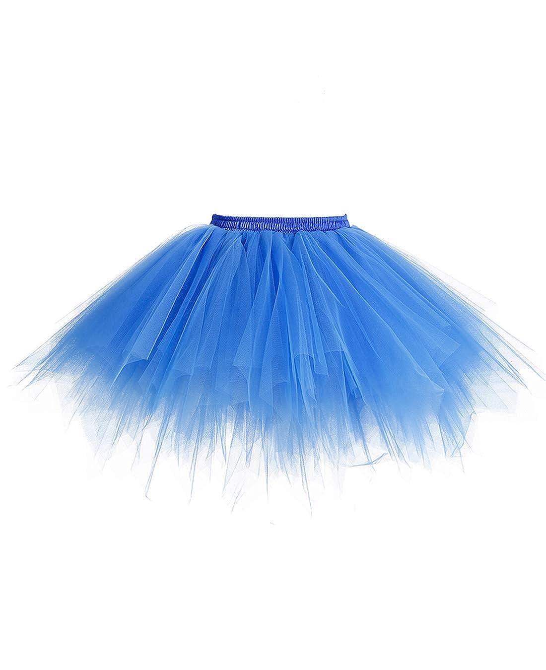 MuaDress R/étro Ballet Tutu en Tulle Jupe Courte sous Robe Style ann/ées 50 Swing