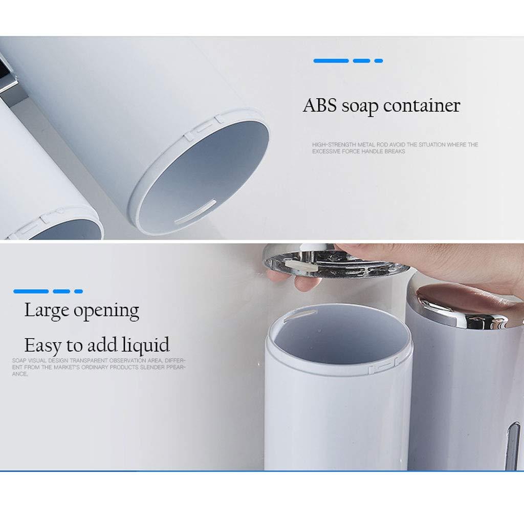Dispensador de jabón de Pared Botella de jabón Manual de plástico Sistema de distribución de líquido de jabón 1 Habitación 2 Habitaciones 3 Habitaciones ...