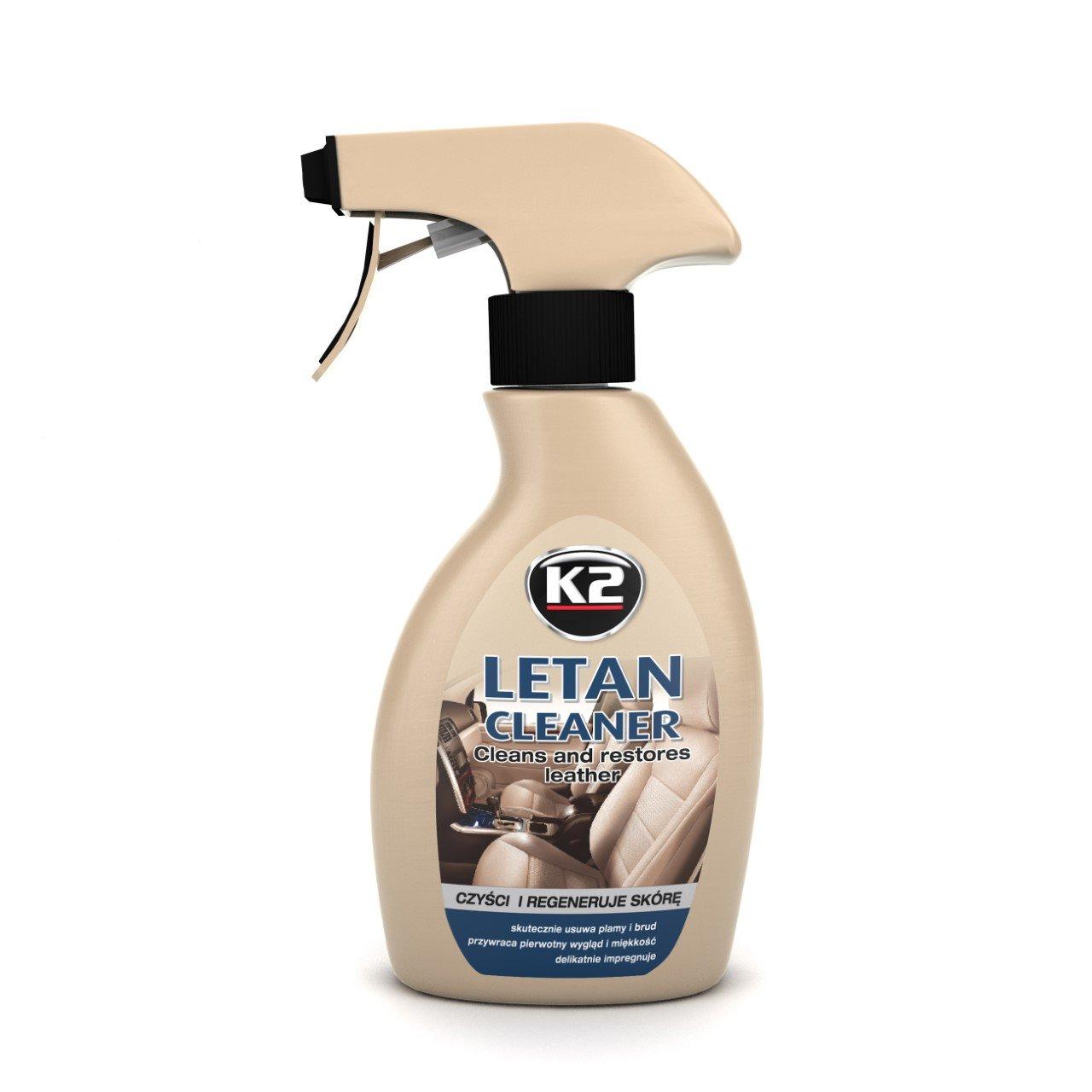 K2 - Piel cuidado, limpiador & bá lsamo, muy bien verarbeitbar, agradable olor, botella de aerosol 200 ml limpiador & bálsamo botella de aerosol 200ml