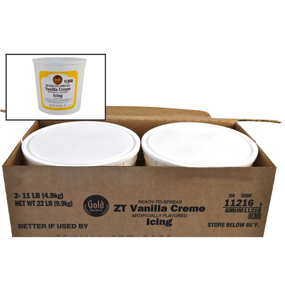Gold Medal Vanilla Creme Ready To Serve Icing 2 Case 11 Pound by General Mills (Image #1)