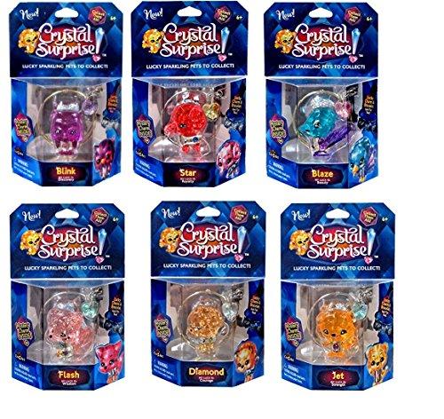 Cra-Z-Art Crystal Surprise Lucky Sparkling Pets Set - Jet, Flash, Diamond, Blaze, Star and Blink (Sparkling Bracelet Diamonds)