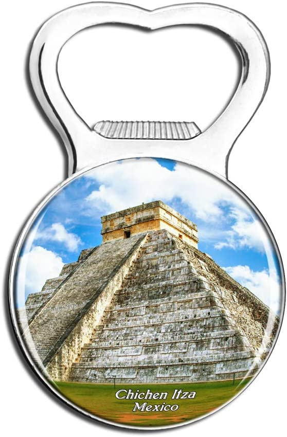 Weekino Mexico Chichen Itza Fridge Magnet Bottle Opener Beer City Travel Souvenir Collection Strong Refrigerator Sticker