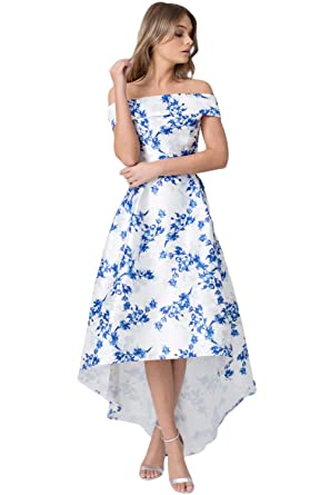 d13bca25544a Boldgal Girl s Western Wear Floral Off Shoulder Dress at Amazon Women s Clothing  store