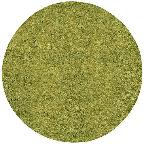 Surya Aros 8' x 8' Round Hand Woven Wool Shag Rug in - Rug Green Aros Shag