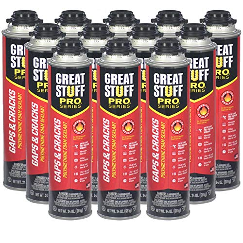 Dow Great Stuff Pro Gaps and Cracks 24 oz Gun Foam (Case of 12) - 341557