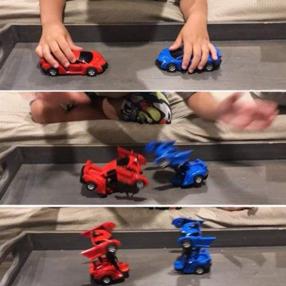 Orange HEITIGN Voiture Robot Transformant Jouet pour Enfants 2 en 1 Amusement Ensemble Cr/éatif Construction Jouets De Construction Voiture Jouet Robot Enfant en Bas /âge Auto Robots Cool Jouet