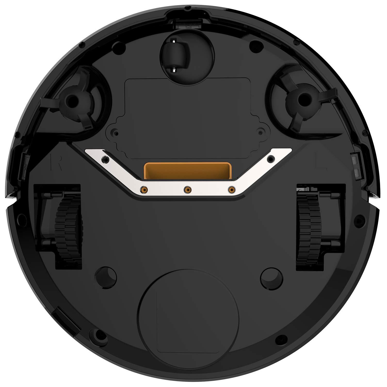ANNEW Aspirateur robot machine nettoyage avec t/él/écommande 3 modes de nettoyage antichute filtre HEPA id/éal pour les poils danimaux tapis sol dur Black