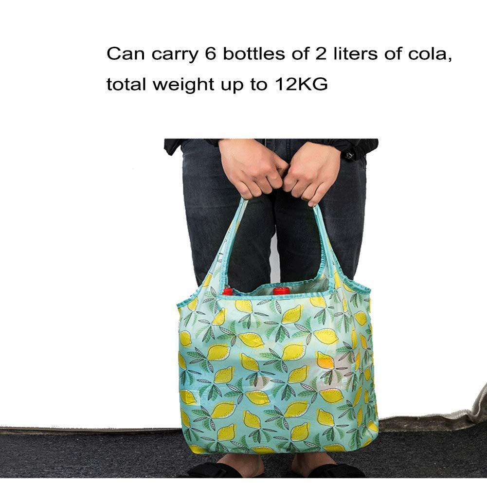 grandes 17.7L x 3.9W x 16.5H // 45x10x42cm lavables paquete de 3 resistentes 10 Bolsas de la compra reutilizables plegables respetuosas con el medio ambiente