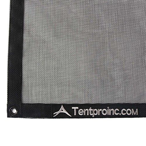 Tentproinc Truck Mesh Tarp 9' X 12' Black Heavy Duty Cover Reinforced Double Needle Stitch Webbing Ripping and Tearing Stop, No Rust Thicker Brass Grommets - 3 Years Limited Warranty by Tentproinc (Image #4)