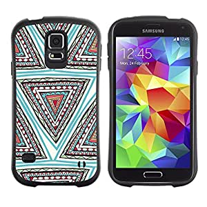 Suave TPU GEL Carcasa Funda Silicona Blando Estuche Caso de protección (para) Samsung Galaxy S5 / CECELL Phone case / / Hand Shape Pattern Teal Deep /