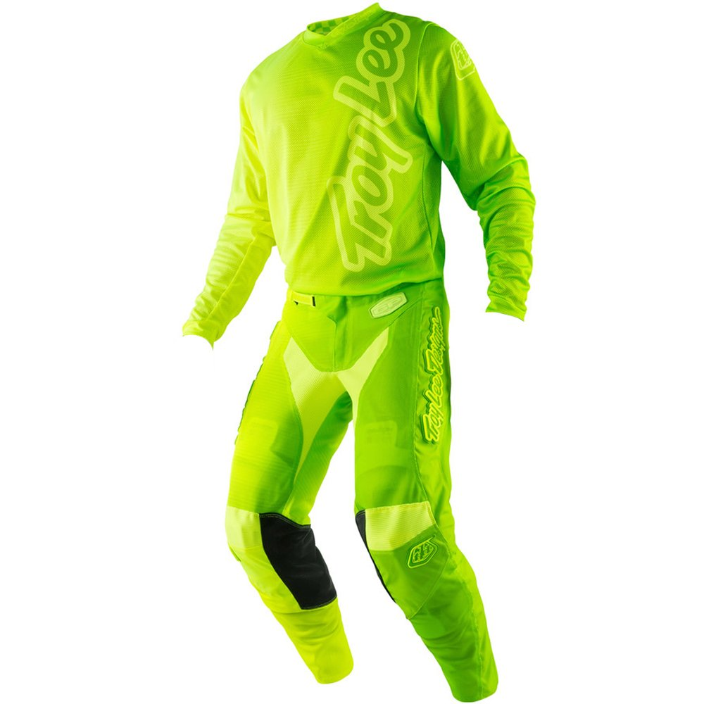 Troy Lee Designs GP Air 50/50 Yellow & Green Youth Jersey/Pant Combo Y-XLARGE/28W