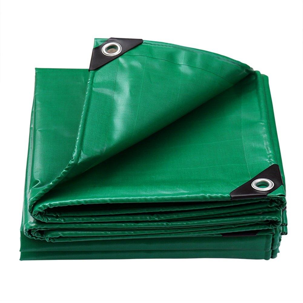 AAA ターポリン、厚手ポリエステルキャンバス両面防水日焼け止め旅行キャンプ毛布屋外車カバー耐候腐食厚さ0.45ミリメートル重量550グラム/m² (色 : Green, サイズ さいず : 2x2m) B07FW3M4K3 2x2m|Green Green 2x2m