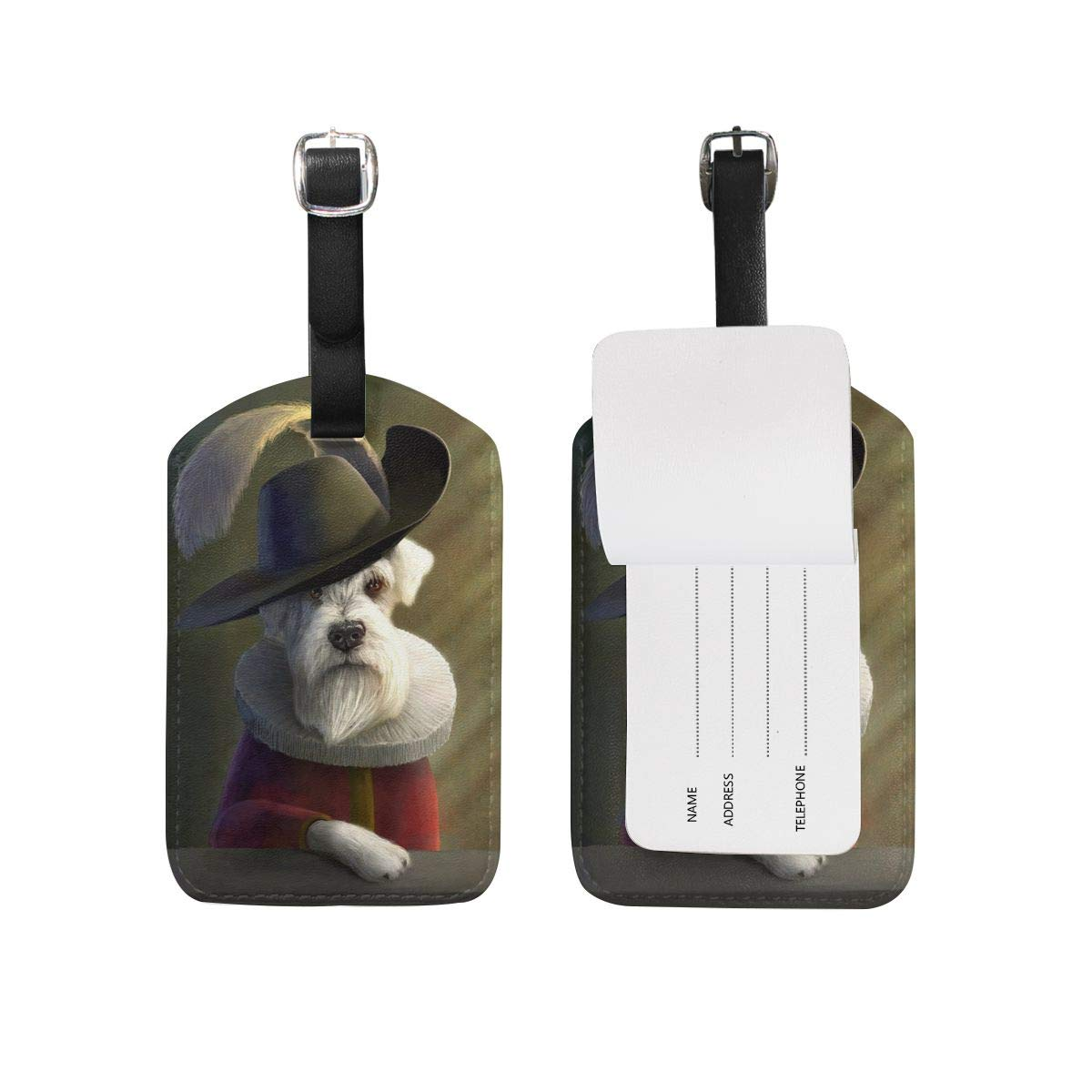 Amazon com: CWLTAG Noble Dog Puppy PU Luggage Tags Privacy