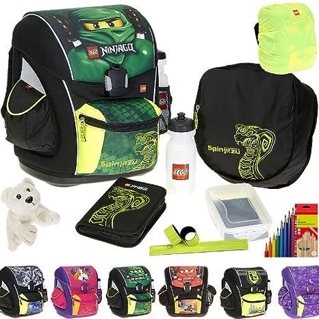 LEGO Supreme - Juego de mochila escolar, estuche, bolsa de deporte, cantimplora,
