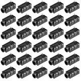 uxcell 30Pcs PCB Mount 3.5mm 4 Pin Socket Headphone Stereo Jack Audio Video Connector Black PJ320D