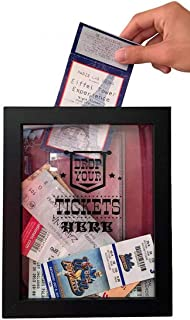 product image for 8x10 Memento Frame - Large Slot on Top of Frame - Memory Box Storage for Any Size Tickets. Best Top Loading Shadowbox for The Concert Movie Theater & Sporting Event Ticket Stubs