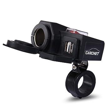 Tinksky Premium Qualit/ät Auto Motorrad Dual USB Ladeger/ät Adapter Steckdose Zigarettenanz/ünder-Stecker 12V