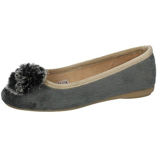 ba64c9ec9cf MORANCHEL 4012 Bailarinas Grises Mujer Manoletinas Gris 35  Amazon.es   Zapatos y complementos