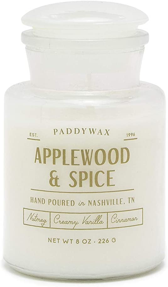 Paddywax Candles Farmhouse Collection Scented Candle, 8-Ounce, Applewood & Spice