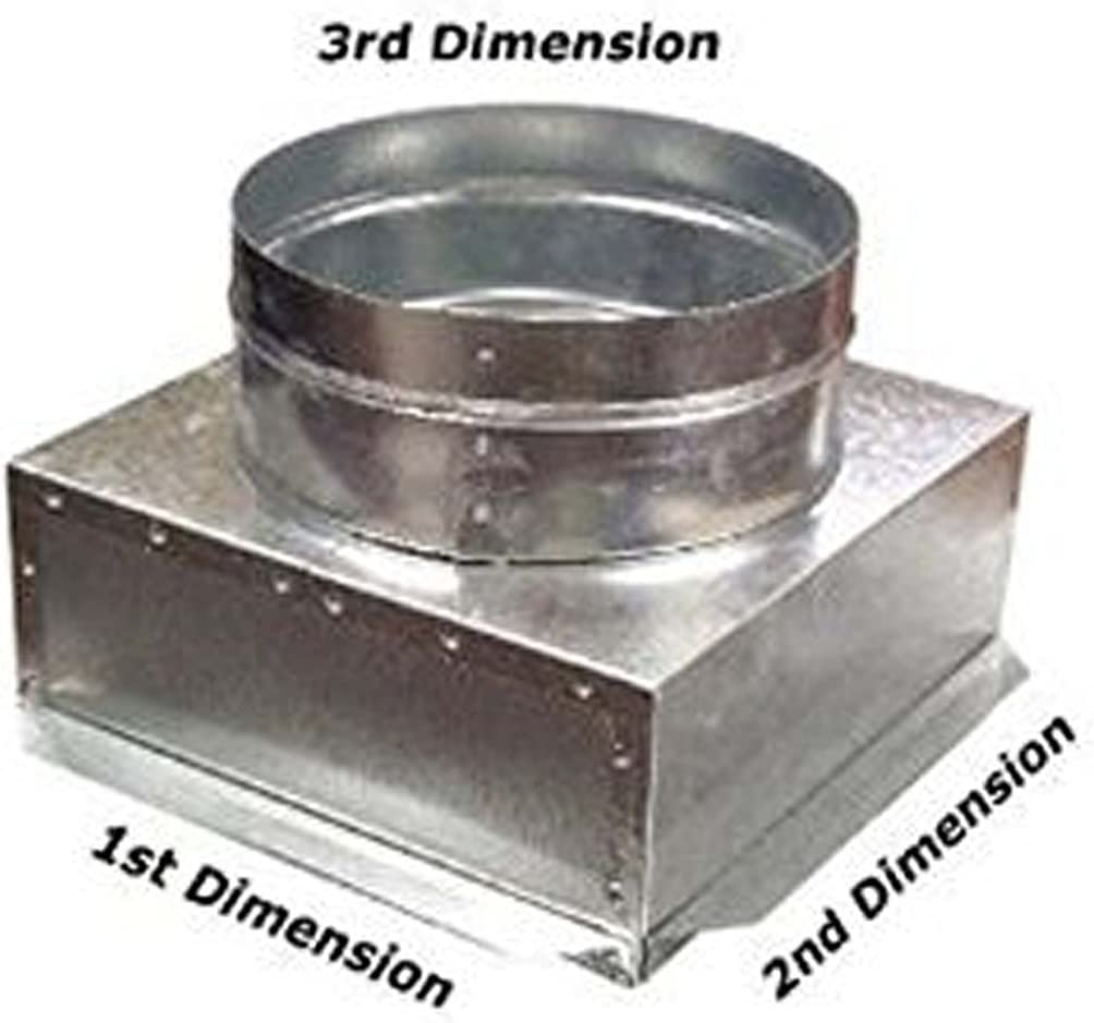 C-Box HVAC Plenum Ceiling Box 10 x 10 x 8 Round-Connects to Vent Register Diffuser by SMK