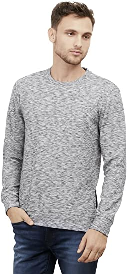 Kenneth Cole Mens Long-Sleeve Sweatshirt with Side Zips