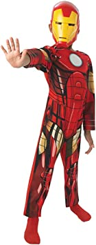 Rubies 887750 - Traje Iron Man, talla S - 3/4 años: Amazon.es ...