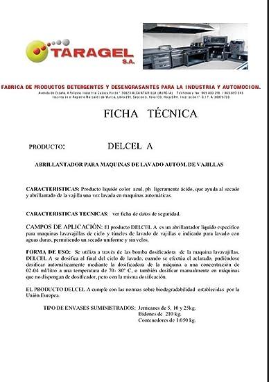 TRALLA ABRILLANTADOR para MAQUINAS DE Lavado AUTOM. DE VAJILLAS ...