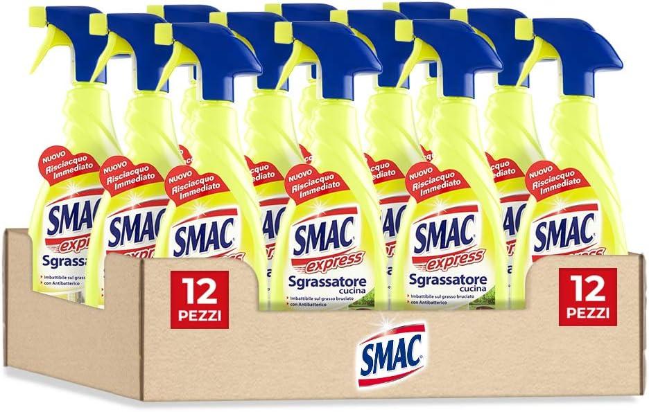 Smac Express Sgrassatore Cucina Al Limone Detergente Spray Multisuperficie Con Azione Sgrassante 650 Ml X 12 Pezzi Amazon It Salute E Cura Della Persona