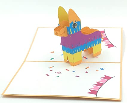 Amazon Com The Burrito Pinata Birthday Pop Up Card Not Your