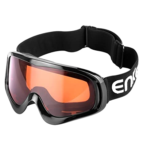 Enkeeo Motorcycle Goggles Anti-Scratch Cycling Googles Dust Proof Bendable with
