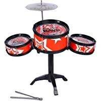 Webby Drum Set with Jazz Plate & Stand (3 Drum Pcs)