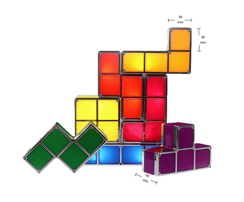 Amazon tetris stackable led desk lamp toys games geotapseo Gallery