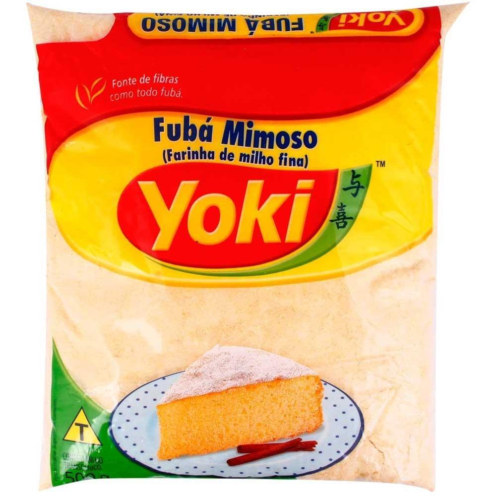 Yoki - Fine Cornmeal - Fine Maize Flour - 17.64 Oz (PACK OF 2)   Fubá Mimoso - Farinha de Milho fina - 500g