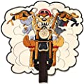 Taz Tasmanian Looney Tones Motorcycle Riding Rider Biker Punk Rock Tatoo Jacket T-shirt Patch Sew Iron on Embroidered Sign Badge Costume
