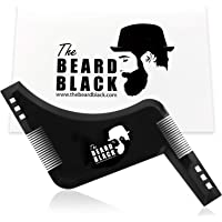 Barbe gainant et outil de coiffure avec peigne intégré pour Perfect Line Up et bordures, à utiliser avec une tondeuse à barbe ou Style de rasoir pour votre Barbe et poils du visage, Premium Qualité Produit par la barbe Noir