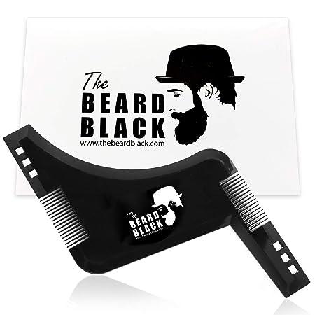 The Beard Black - Peine Plantilla Guía de Afeitado para Barba ...