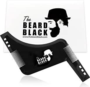 The Beard Black Beard Shaping & Styling Tool with inbuilt Comb for Perfect line up & Edging, use with a Beard Trimmer or Razor to Style Your Beard & Facial Hair, Premium Quality Product by