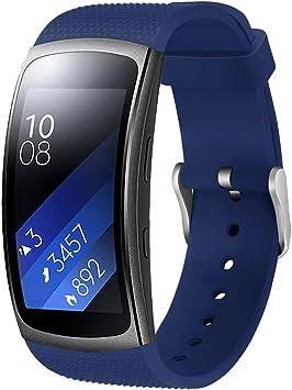 Correa de repuesto para Samsung Gear Fit 2 Pro/Fit 2, de silicona ...