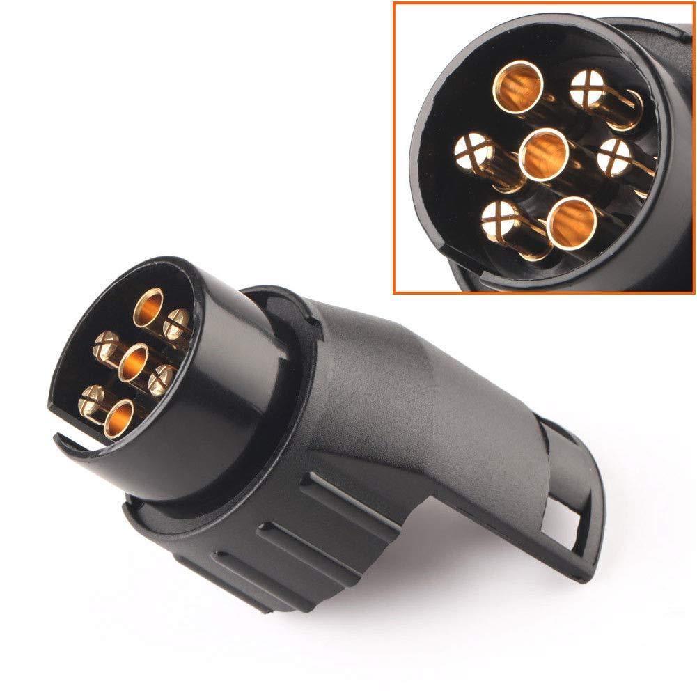 Rimorchio rimorchio adattatore elettrico da 7/a 13/pin convertitore Plug caravan convertitore gancio di traino presa impermeabile