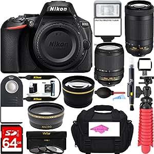 Nikon D5600 24.2MP DX-Format DSLR Camera + AF-S 18-140mm & 70-300mm ED VR Lens + Accessory Bundle