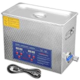 AW 6L Liter Stainless Steel 380 Watt Ultrasonic Cleaner w/Timer Heater Jewelry Necklace Lab Bullet Gun