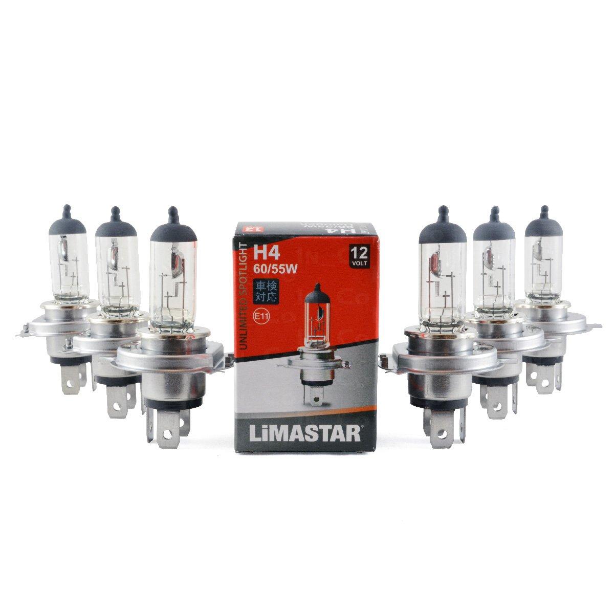 6x H460/55W 12V 60W/55W Bulb 43T Halogen Bulbs Incandescent Auto Clear White for Alfa Romeo 164(164) 33(907B)–75(162B), Alfetta (116), Spider (115)